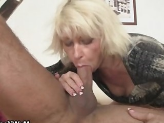 Blonde Blowjob Cumshot Hot Kiss Mammy Mature MILF