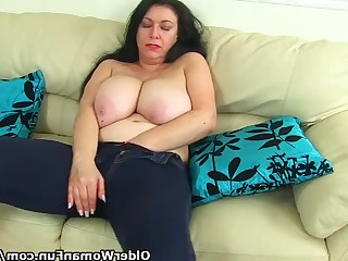 Amateur Jeans Mammy Masturbation Mature MILF Striptease
