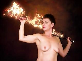Amateur Babe Brunette MILF Nude Smoking