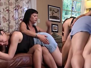 Babe BDSM Brunette Fetish Lesbian MILF Punished Spanking