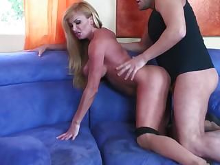 Big Tits Blonde Big Cock Couch Cum Cumshot Doggy Style Hot
