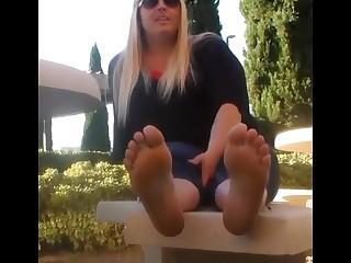 Blonde BBW Fatty Feet Foot Fetish Mammy MILF