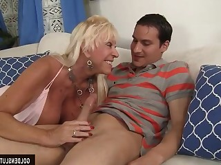 Blonde Blowjob Big Cock Cumshot Doggy Style Granny Hardcore Hot