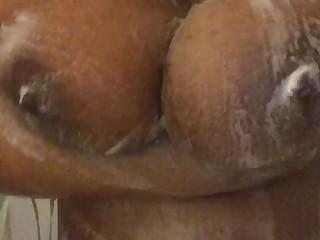Big Tits Ebony Massage MILF Shower