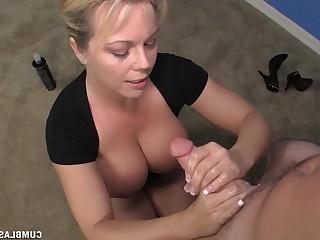 Blonde Bus Busty Cougar Cumshot Emo Handjob Hot