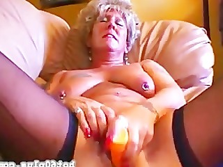 Ass Cougar Dildo Fuck Granny Housewife Mammy Mature