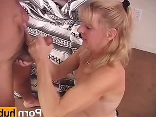 Amateur Blonde Fingering Handjob High Heels Mammy MILF Natural